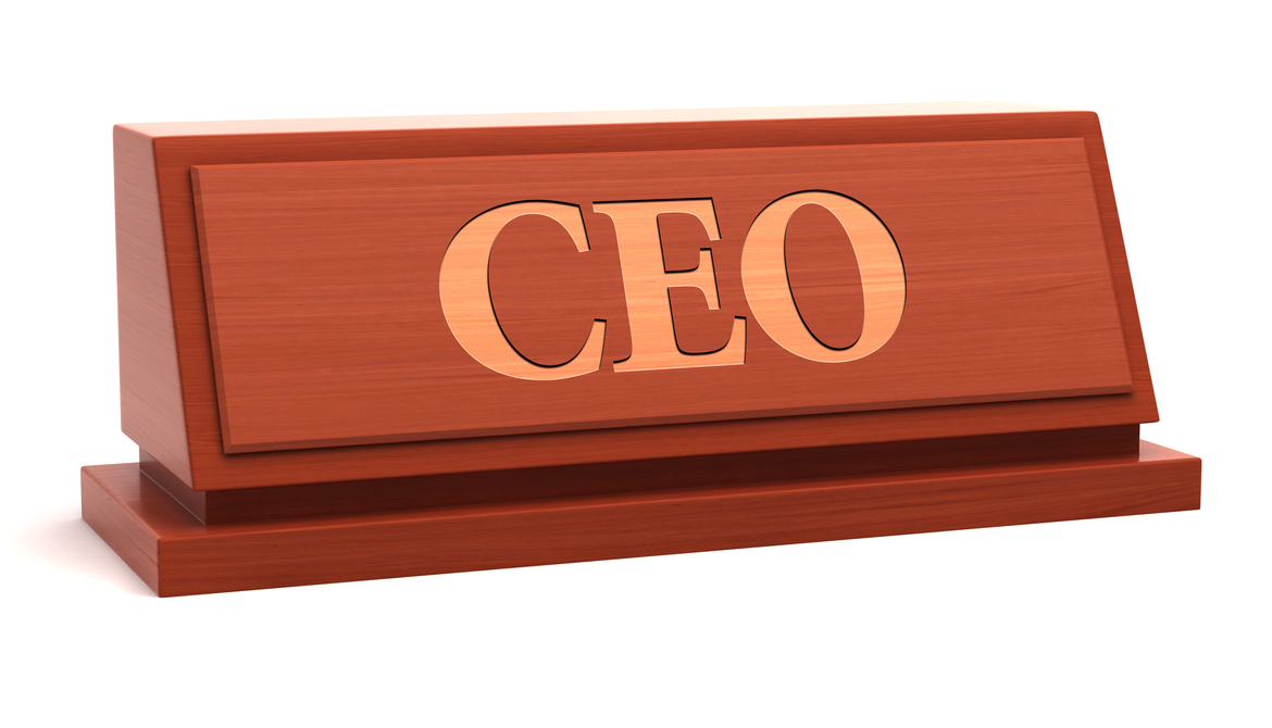 CEO title desk plaque