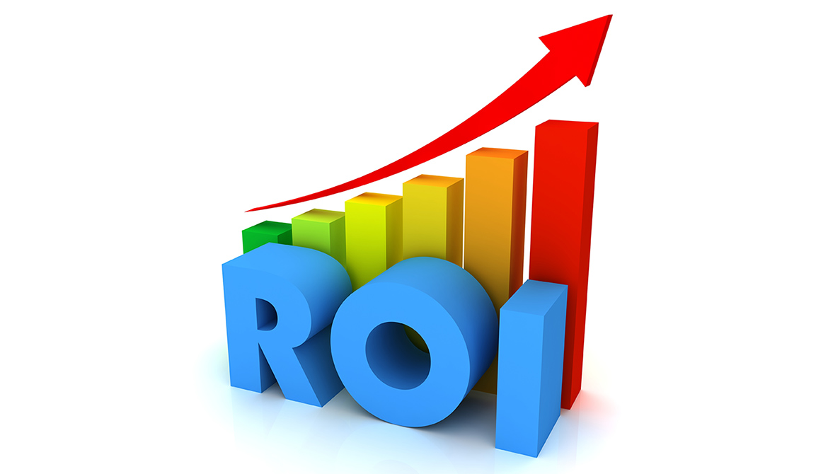 ROI return graph trending upward