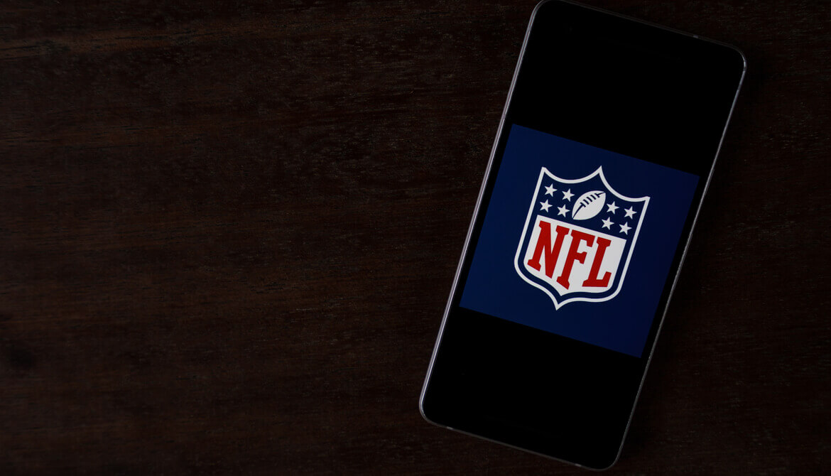 NFL app on a smartphone