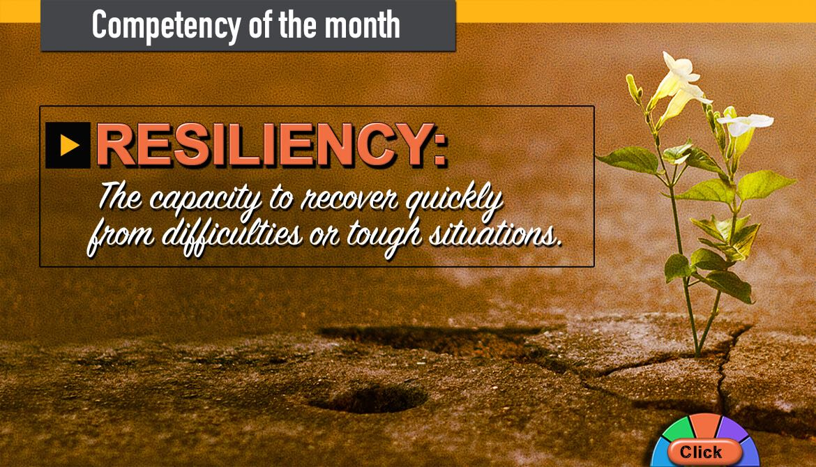 image from Affinity intranet of resilience competency of the month