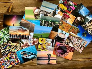 colorful photo cards
