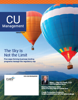 February 2018 Issue CU Management Cover