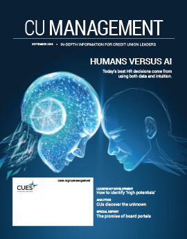 September 2018 Issue CU Management Cover