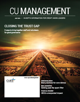 July 2018 Issue CU Management Cover
