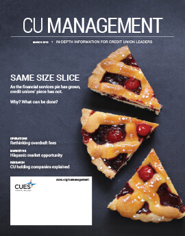 March 2018 Issue CU Management Cover