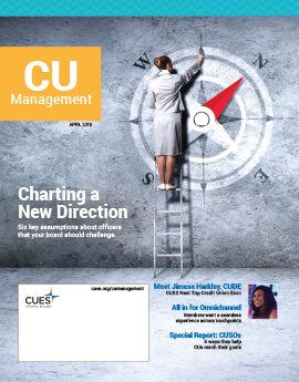 April 2016 Issue CU Management Cover