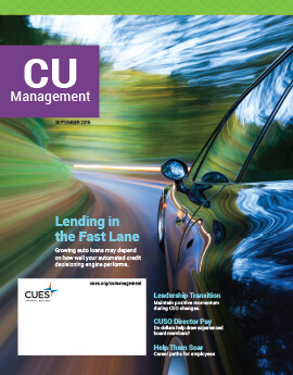 September 2016 Issue CU Management Cover