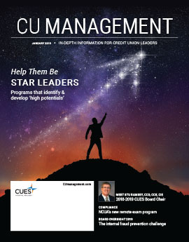 January 2019 Issue CU Management Cover