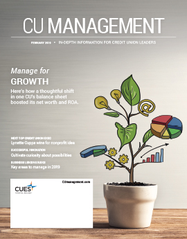 February 2019 Issue CU Management Cover