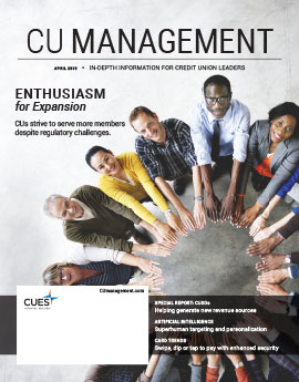 April 2019 Issue CU Management Cover