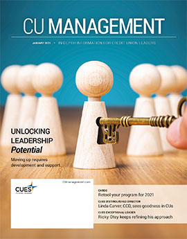 January 2021 CU Management magazine cover