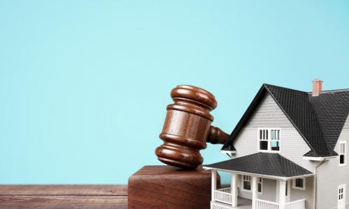 ​house with legal gavel
