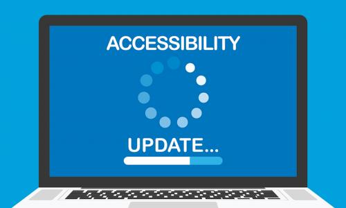 Accessiblity Update Loading image on laptop