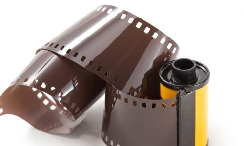 film showing out of a canister