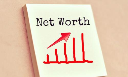 ​illustration of net worth going up on a chart [Click and drag to move] ​