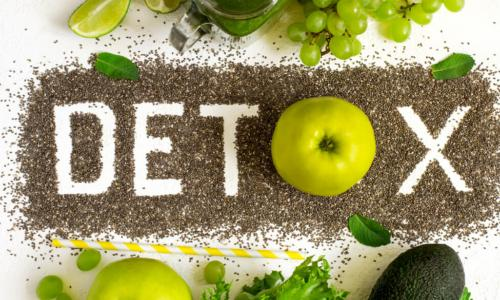 healthy foods and grains spell detox