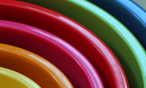 concentric colorful bowls