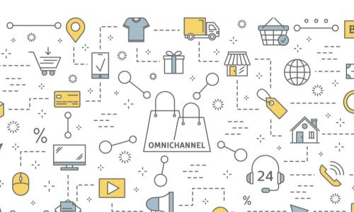 Omnichannel concept shows many communication channels with customer