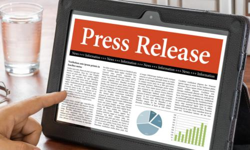 a press release is displayed on a tablet