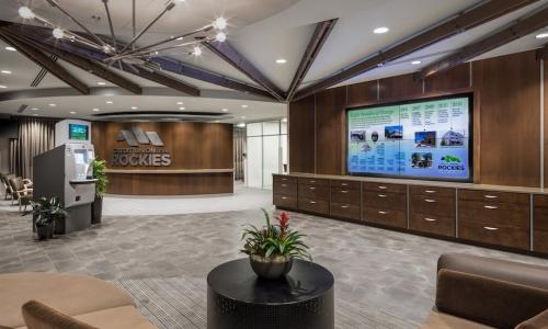 Credit Union of the Rockies redesigned retail branch space