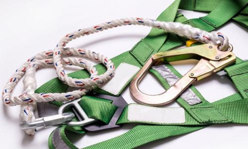 green safety harness