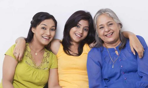 three women representing all three different generations