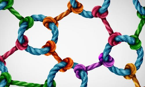 web of integrated colored ropes