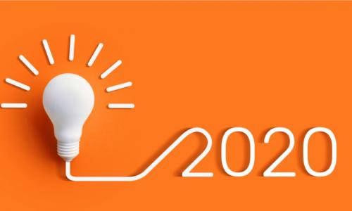 idea lightbulb connected to 2020