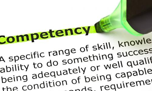 green marker highlighting the word competency