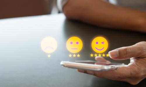 smiley face evaluation smartphone