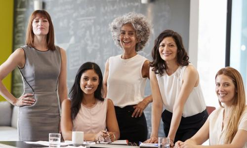 diverse group of female board directors