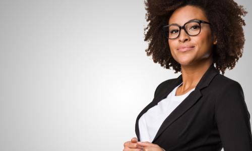 confident successful African American businesswoman