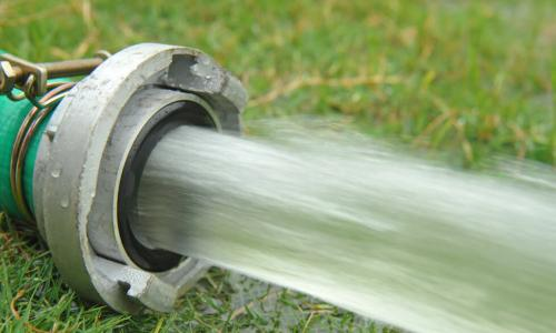 hose with water flowing out