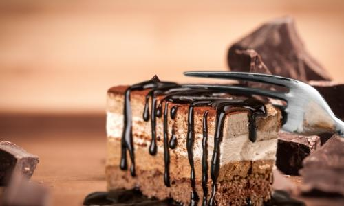 chocolate cake with fork